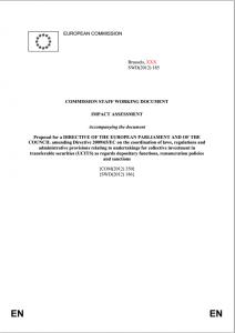 Rapport de la Commission Européenne sur la fonction de dépositaire des fonds d'investissement