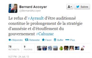 Tweet de Bernard Accoyer