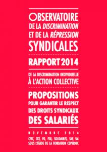 Rapport de l'Observatoire de la Discrimination et de la Répression Syndicales
