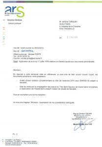 ARS - transmission subvention Sarralbe