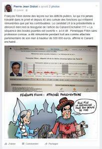 François Fillon sur page FB Pierre Jean Didiot