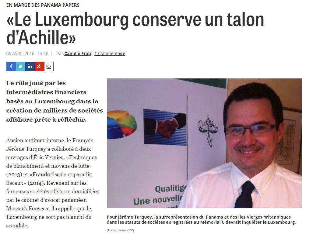 Interview d'expert sur les Panama Papers et le Luxembourg