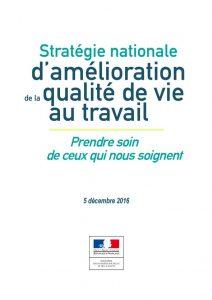 Stratégie nationale d'amélioration de la qualité de vie au travail